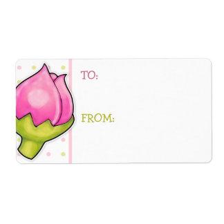 Rosebud Joy dots Gift Tag Sticker Shipping Label