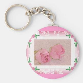 Rosebud Keychain...Wedding Favor Key Ring