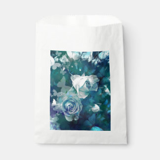 Rosebuds with butterflies favour bags