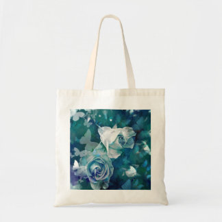 Rosebuds with butterflies tote bag
