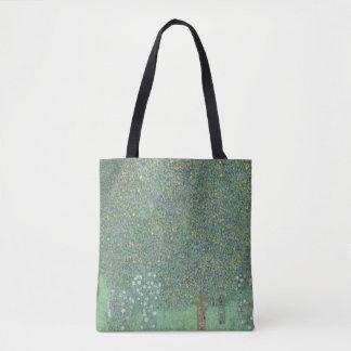Rosebushes Under the Trees Gustav Klimt GalleryHD Tote Bag