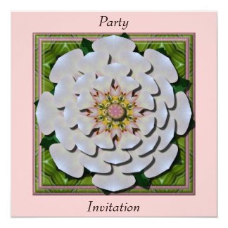 Roseflower 3D effect Invitation Card