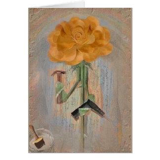 Rosegifts Carpenter Rose Greeting Card. Card