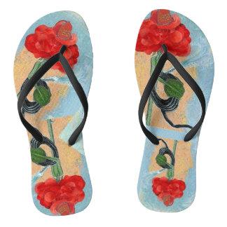 Rosegifts Fireman Rose Flip Flops Thongs