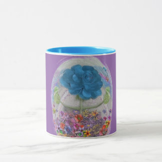 Rosegifts flowers rose mug purple and blue.
