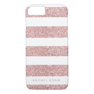 RoseGold Striped Phone Case