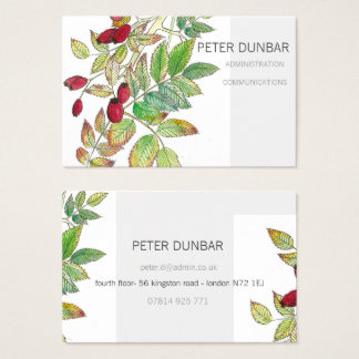 Rosehip Personalised Business Card