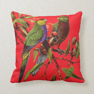 ROSELLAS ON RED Scatter Cushion