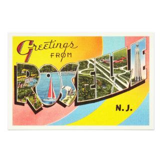 Roselle New Jersey NJ Old Vintage Travel Postcard- Photo Print