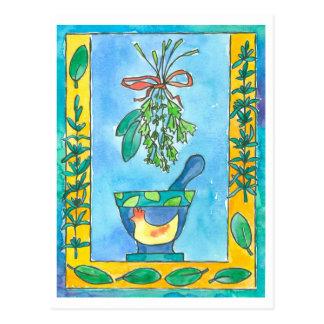Rosemary Bay Laurel Cooking Herbs Postcard