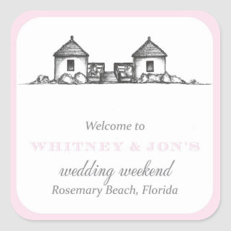 Rosemary Beach Welcome Label