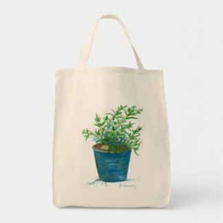Rosemary Herb Plant Garden Watercolor Painting Tote Bag