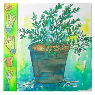 Rosemary Kitchen Herb Ceramic Tile