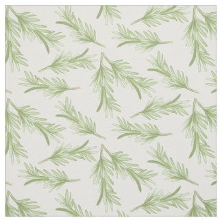 Rosemary Sprigs Herbal Pattern Fabric
