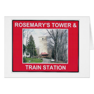 ROSEMARY'S TOWER & TRAIN STATION CARD