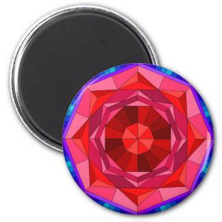 Rosery mandala 6 cm round magnet