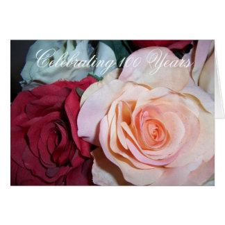 Roses 100th Birthday Card