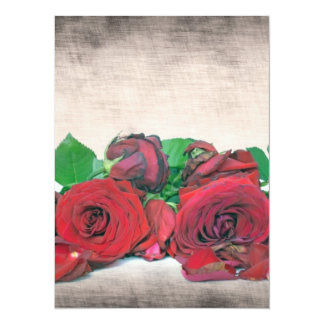 Roses 14 Cm X 19 Cm Invitation Card