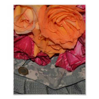 Roses Acu Military Uniform Troops Camouflage Print