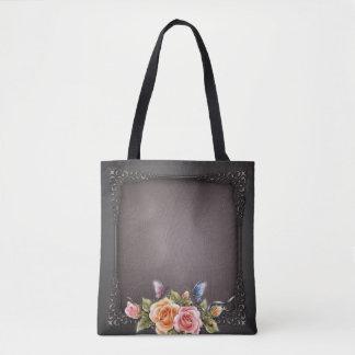 Roses All-Over-Print Tote Bag, Medium