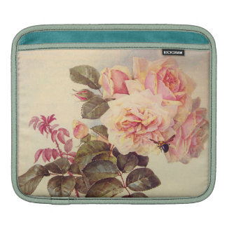 Roses and a Bumblebee Fine Art iPad Sleeves