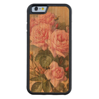 Roses and Bees Vintage Carved® Cherry iPhone 6 Bumper