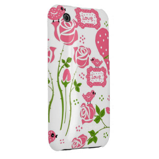 roses and birds iPhone 3 Case-Mate cases
