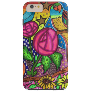 Roses and birds tough iPhone 6 plus case