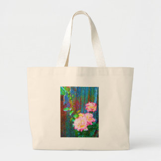 Roses and blue Fence Canvas Bag
