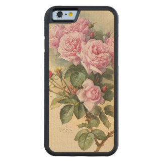 Roses and Bumblebees Paul de Longpre Fine Art Carved® Maple iPhone 6 Bumper