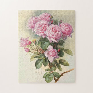 Roses and Bumblebees Paul de Longpre Fine Art Puzzles