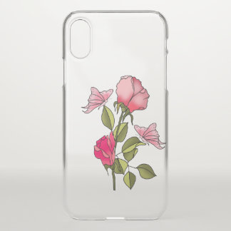 roses and butterflies iPhone x case