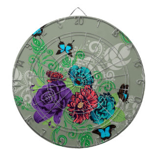 Roses and Butterflies Ornament2 Dartboard