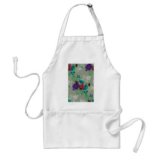 Roses and Butterflies Ornament2 Standard Apron