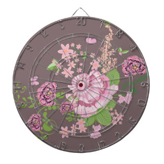 Roses and Butterflies Ornament Dartboard
