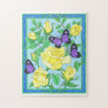Roses and Butterlies Jigsaw Puzzle