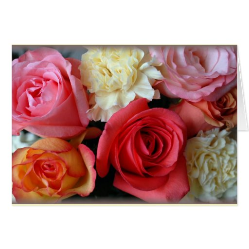 """Roses and Carnations"" Greeting Cards"