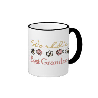 Roses and Daisies World s Best Grandma Coffee Mugs