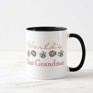 Roses and Daisies World's Best Grandma  Mug