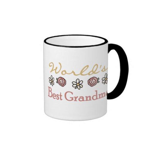 Roses and Daisies World's Best Grandma  Coffee Mugs
