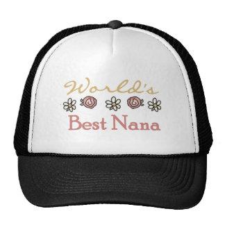 Roses and Daisies World's Best Nana Mesh Hat