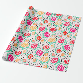 Roses and Dots - Wrapping Paper