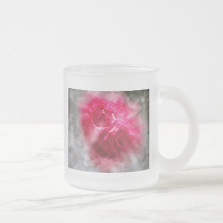 Roses and Glitter Frosted Glass Mug