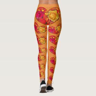 Roses and Hearts designer leggings