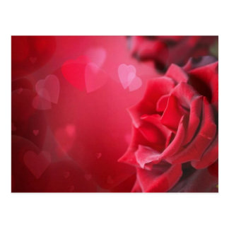 roses and hearts postcard