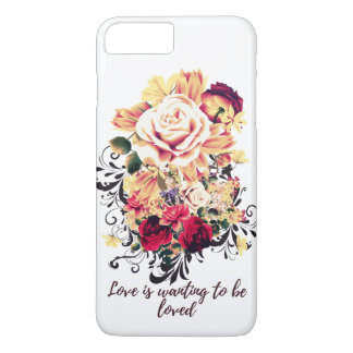Roses and lilac. Love is wanting to be loved iPhone 8 Plus/7 Plus Case