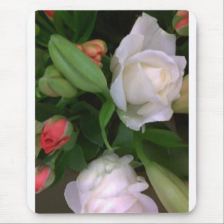 Roses and Lilies Mouse Mats
