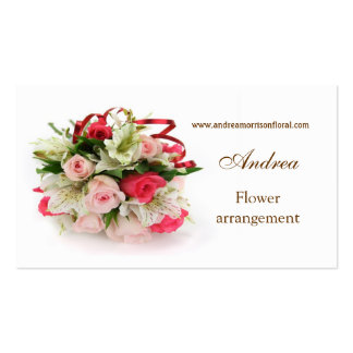 Roses and lilies Profile Business card