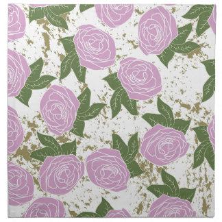 roses and peeling paint napkin