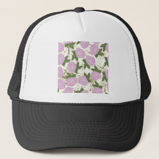 roses and peeling paint trucker hat
